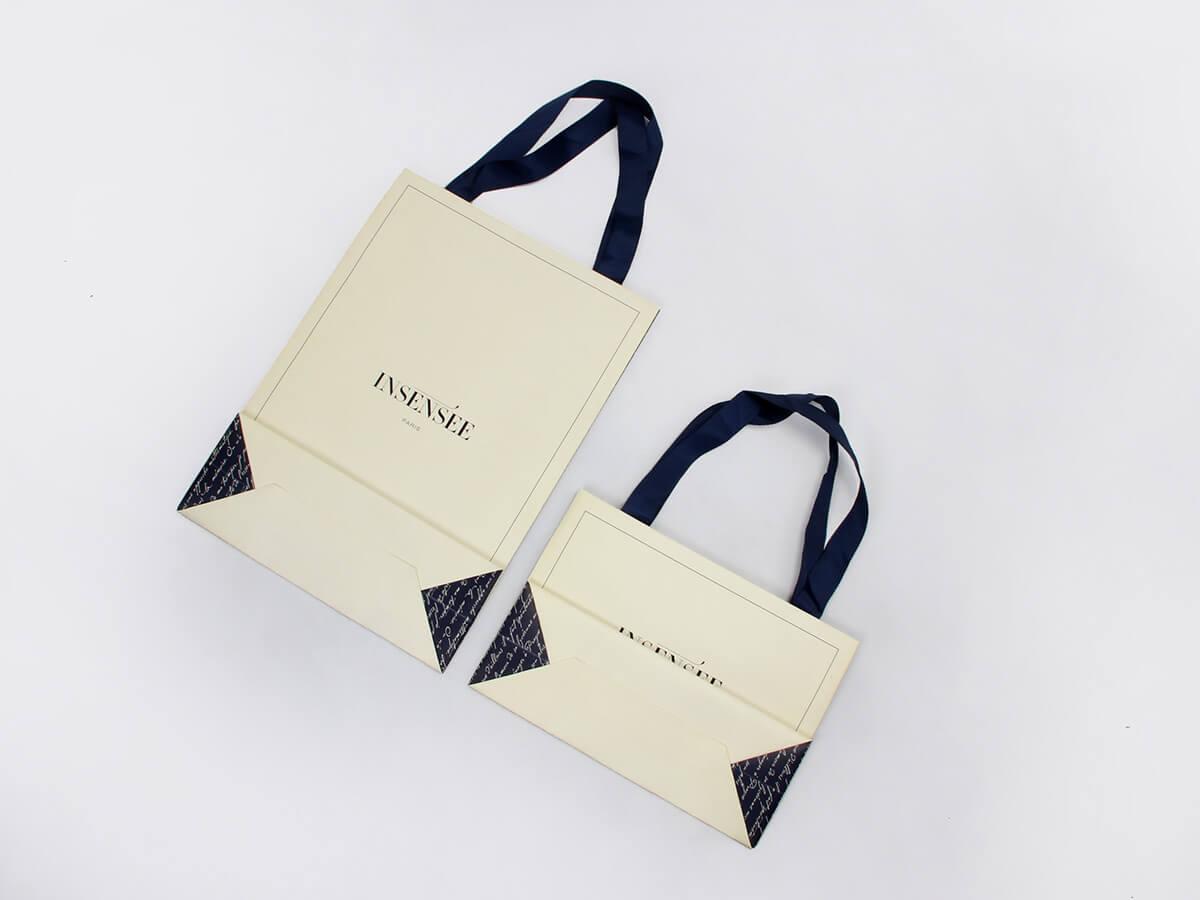 Beige Garment Paper Bags Folding Way
