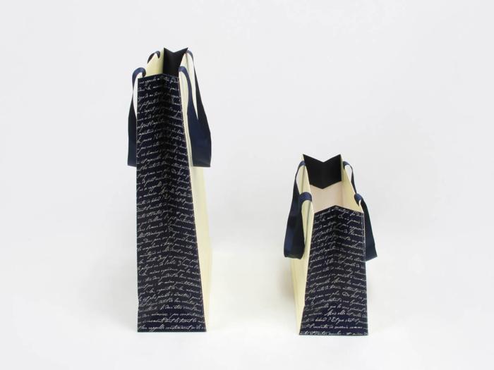 Beige Garment Paper Bags Side Display