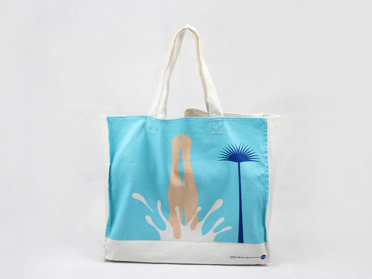 Bikini Beach Canvas Bags Back Printed
