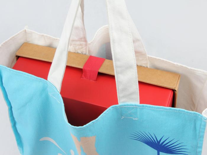 Bikini Beach Canvas Bags Handle Material