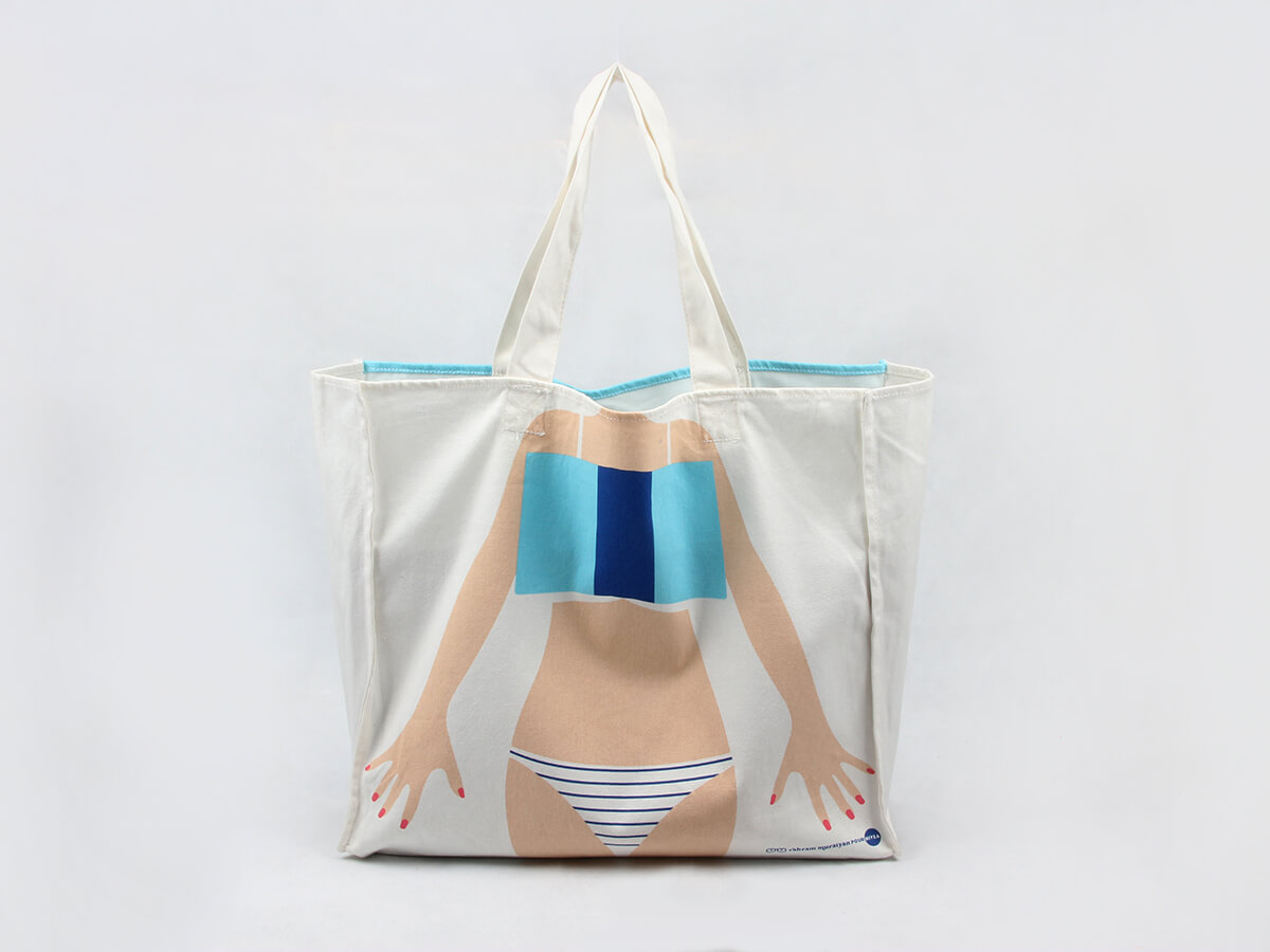Bikini Beach Canvas Handle Bags