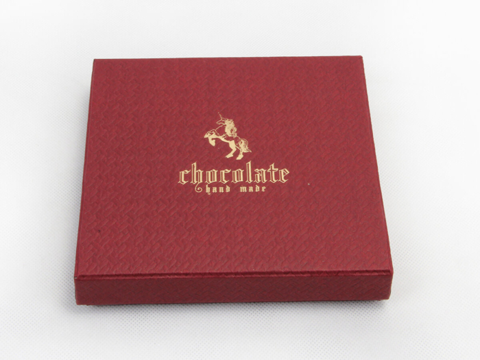 Black Chocolate Packaging Boxes LOGO Technique
