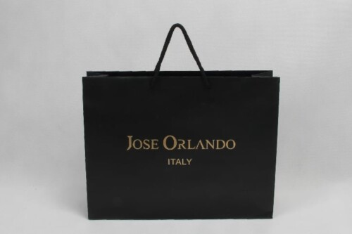 Black Clothes Paper Bags With Double Sided Printing