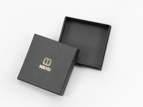 Black Dyed Full Embossing Jewelry Packaging Boxes