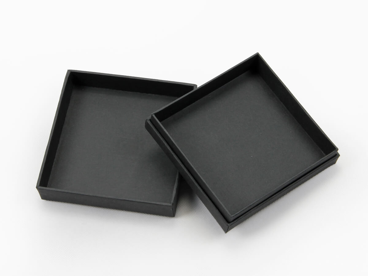 Black Dyed Full Embossing Jewelry Packaging Boxes Inside Material