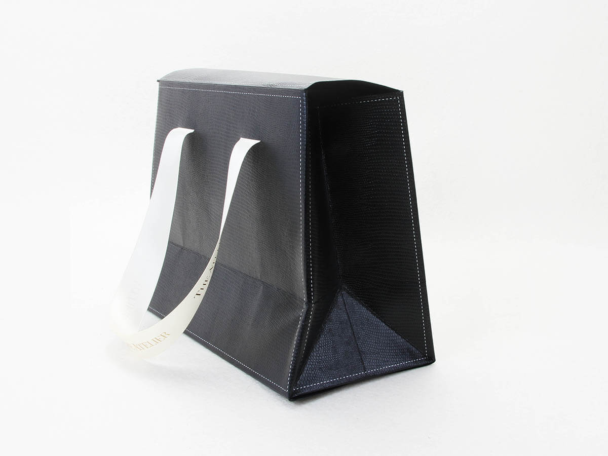 Black Gift Paper Bags With Lights Corner