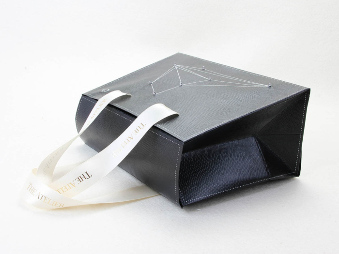 Black Gift Paper Bags With Lights Ribbons