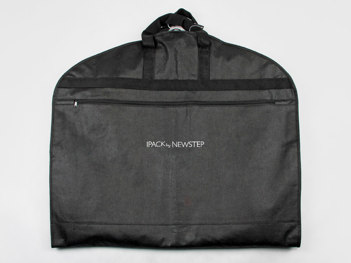 Black Non-woven Garment Suit Bags Folding
