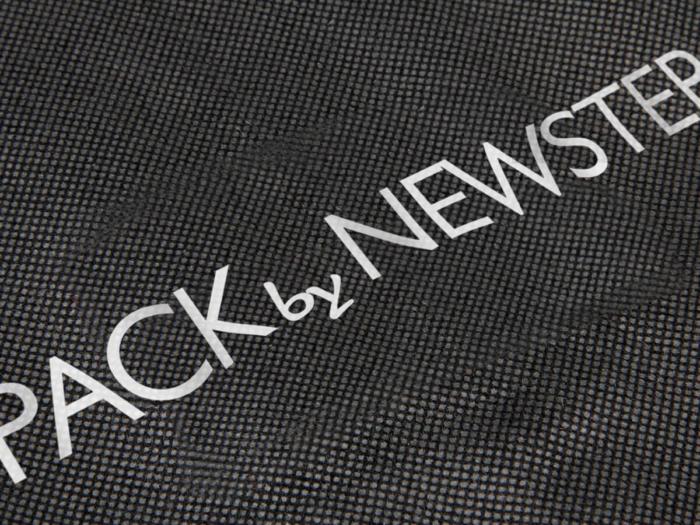 Black Non-woven Garment Suit Bags LOGO Technique