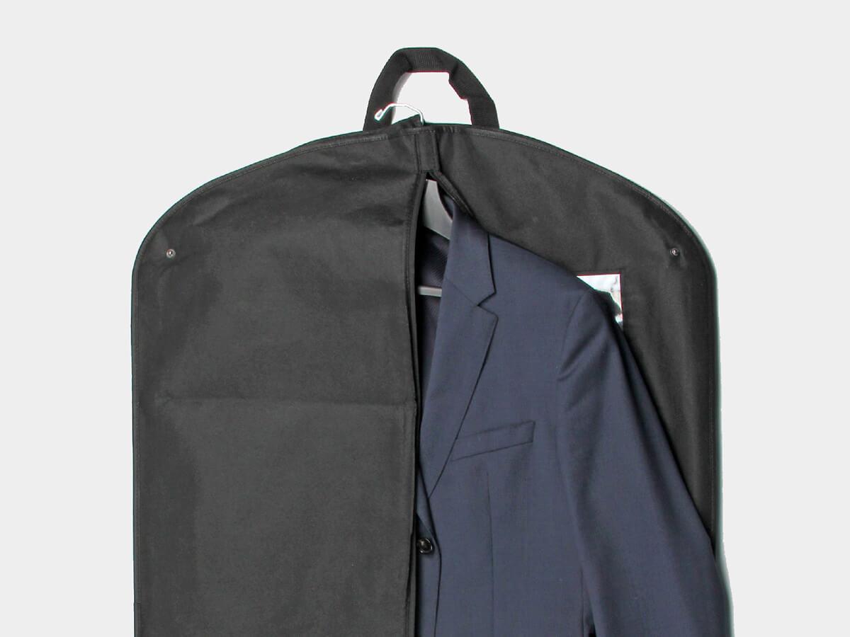 Black Non-woven Garment Suit Bags With Garment