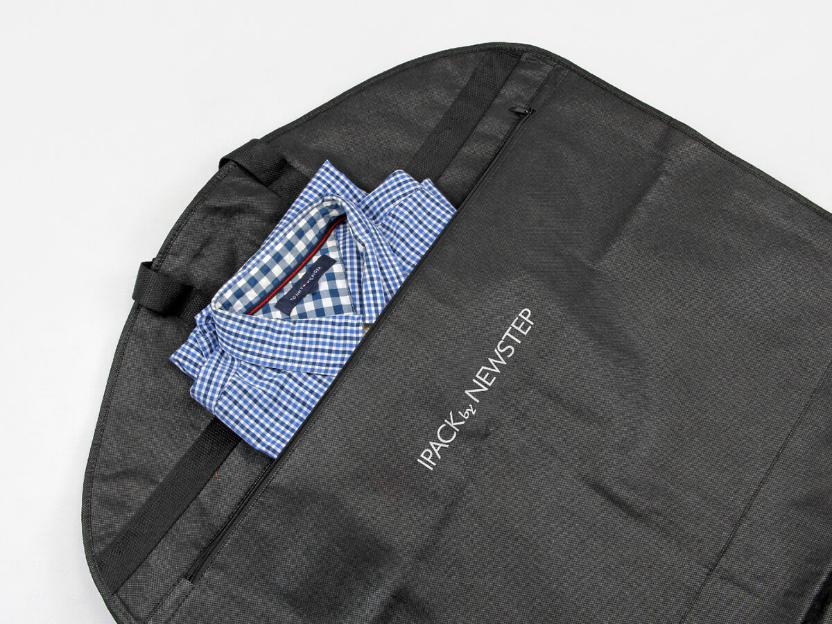 Black Non-woven Garment Suit Bags With Shirt
