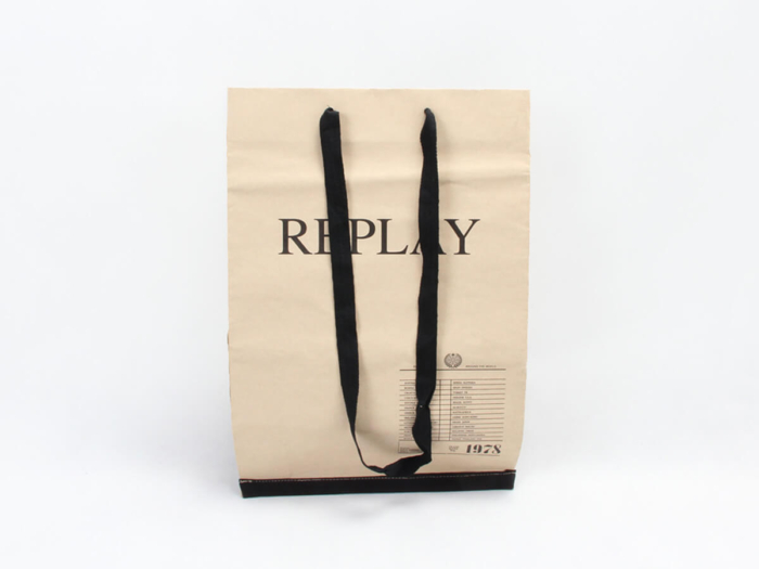 Brand Jeans Shopping Bags Display