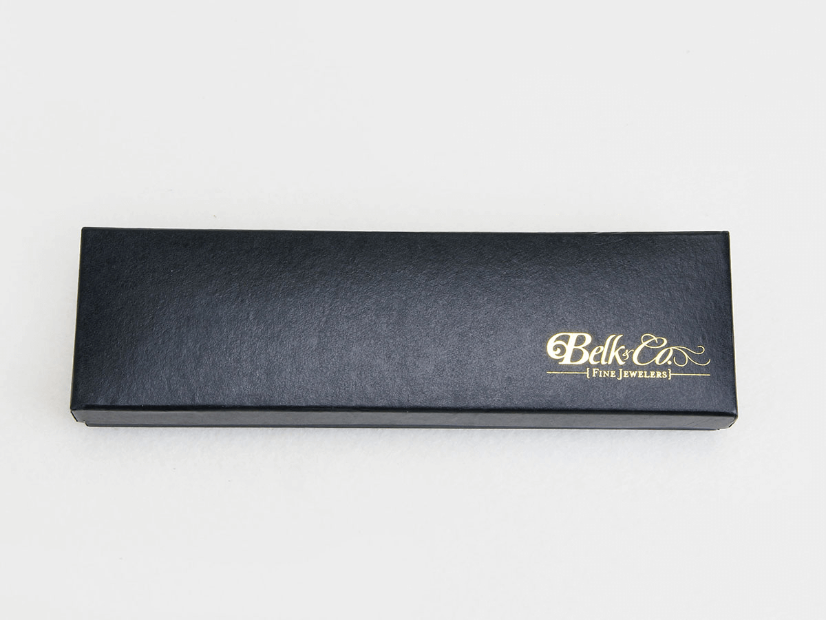 Bright Black Necktie Packaging Boxes LOGO Printed