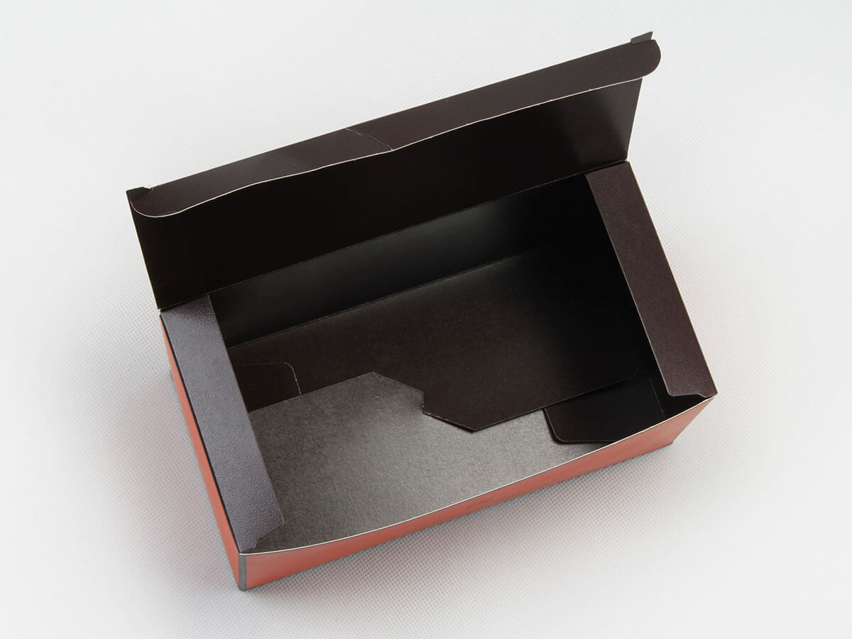 Bright Orange Gift Packaging Boxes Bottom Printed