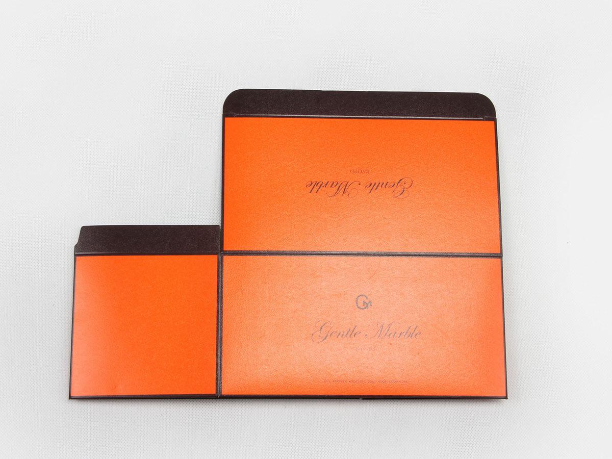 Bright Orange Gift Packaging Boxes Folding Display