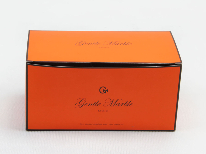 Bright Orange Gift Packaging Boxes LOGO Printed