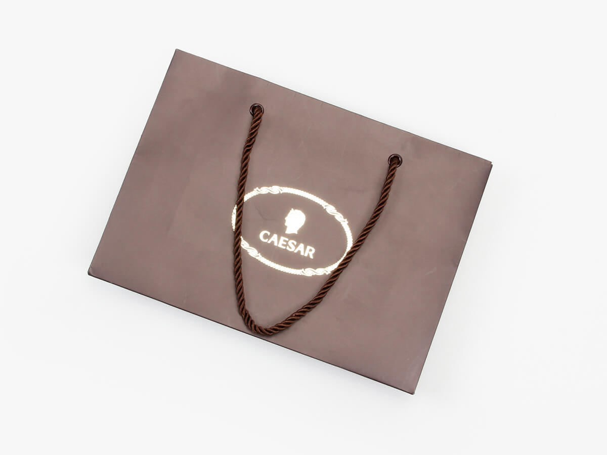 Brown Chocolate Shopping Paper Bags Folding Way