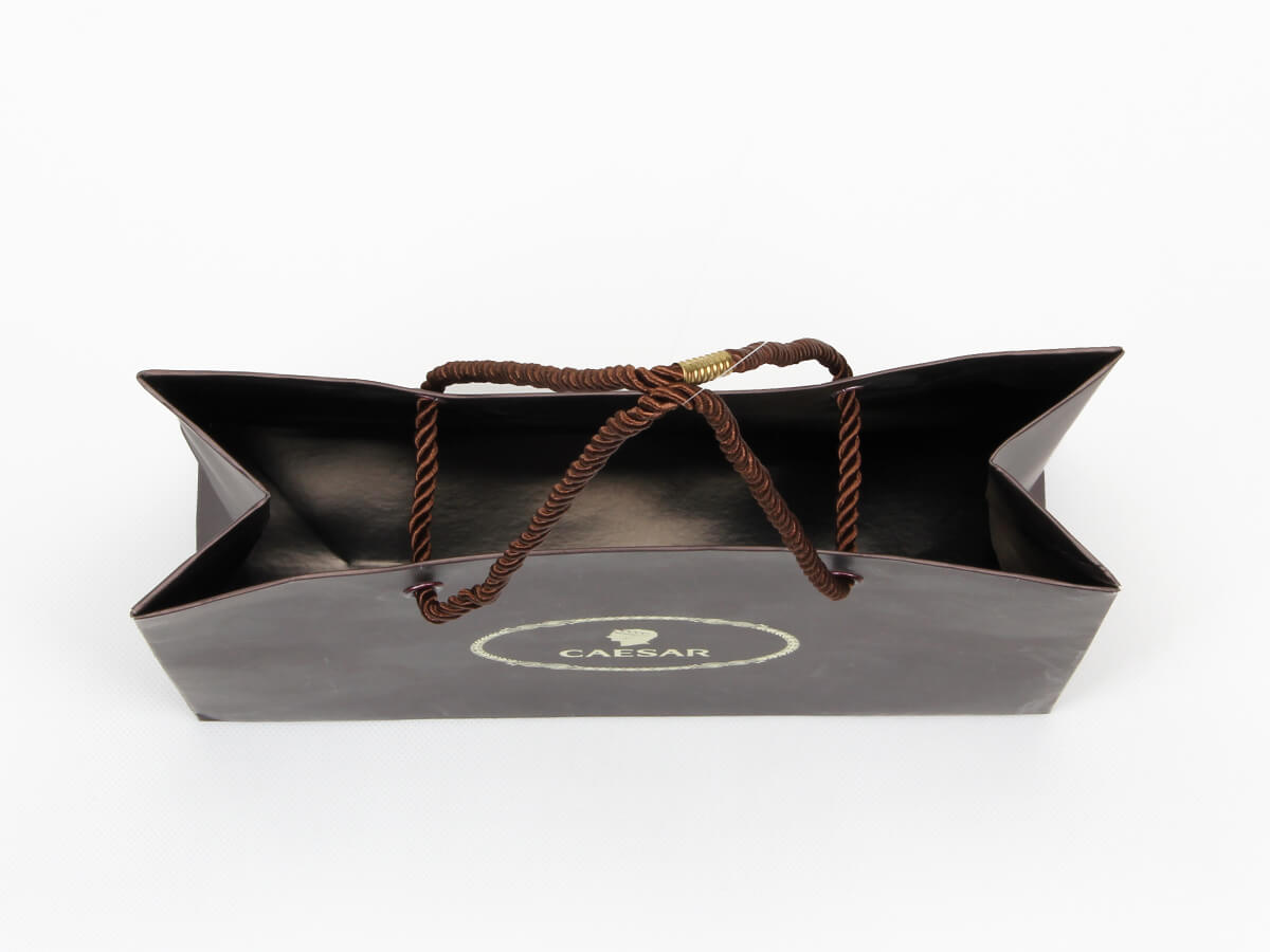 Brown Chocolate Shopping Paper Bags Inside Detail