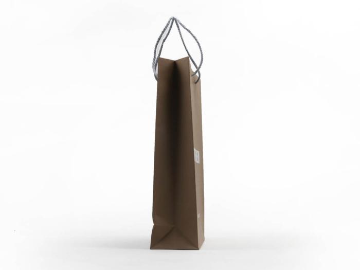 Brown Kraft Garment Paper Carrier Bags Side Detail