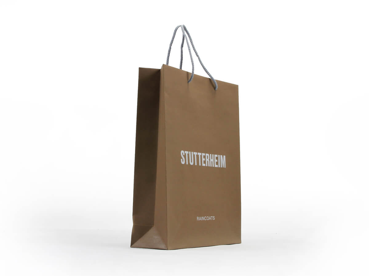 Brown Kraft Garment Paper Carrier Bags