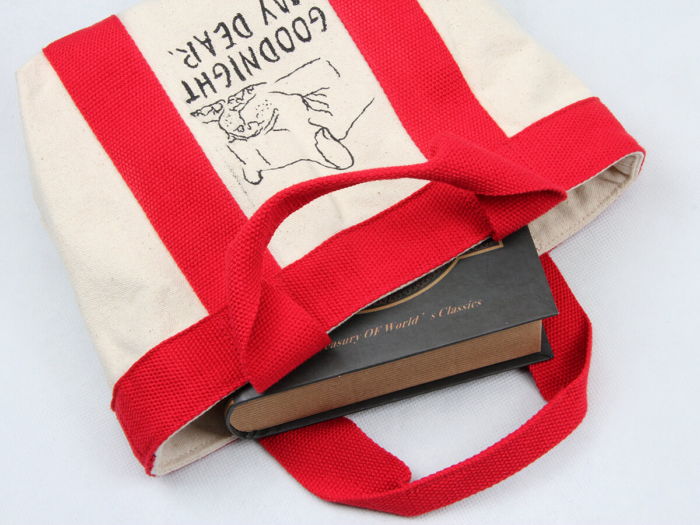 Canvas Food Picnic Lunch Bags Handle Display