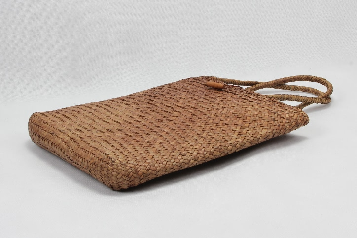 Casual Woven Straw Beach Bags Side