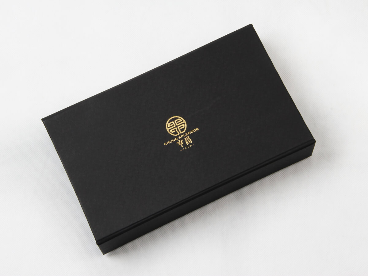 Century Brand Black Gold Scarf Packaging Boxes