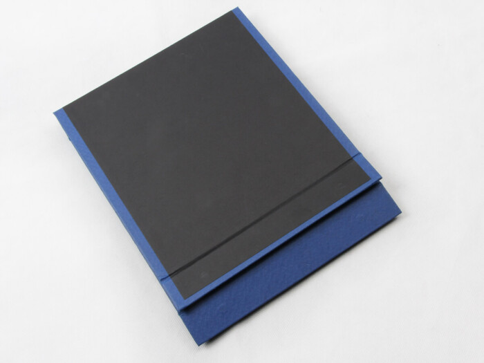 Century Brand Deep Blue Scarf Boxes Folding Way