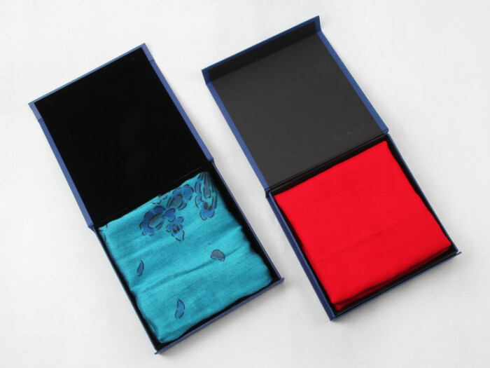 Century Brand Deep Blue Scarf Boxes With Scarf