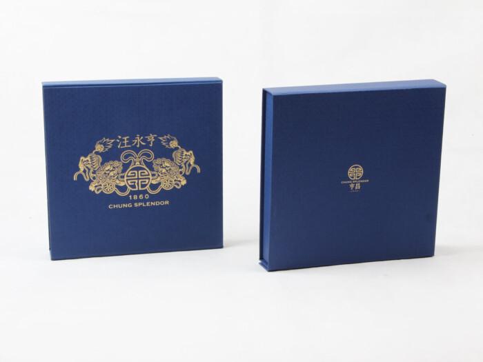 Century Brand Deep Blue Scarf boxes LOGO Technique