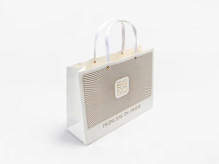 Chic Design White Kraft Gift Bags
