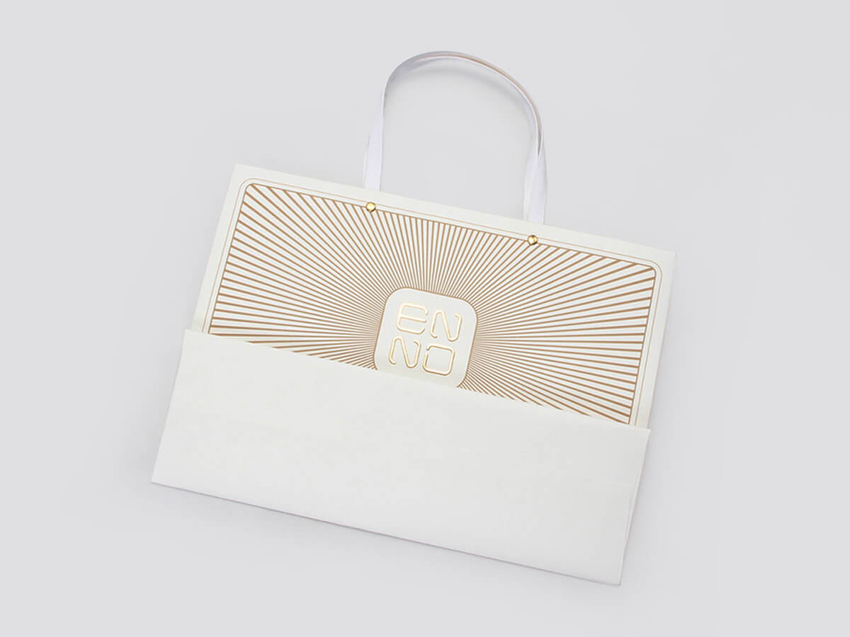 Chic Design White Kraft Gift Bags Folding Way