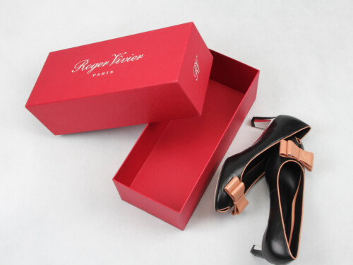 Coated Paper Women Shoe Packaging Boxes