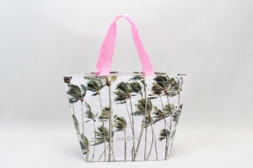Coconut Palm Woven PP Tote Bags Beach Bags