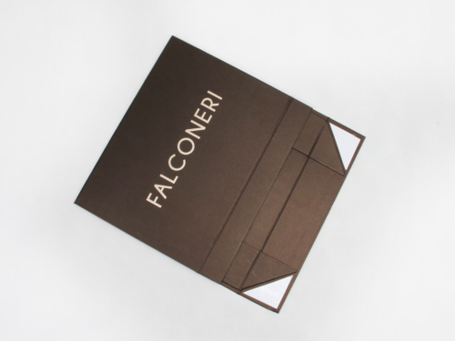 Coffee Color Iridescent Paper Garment Boxes