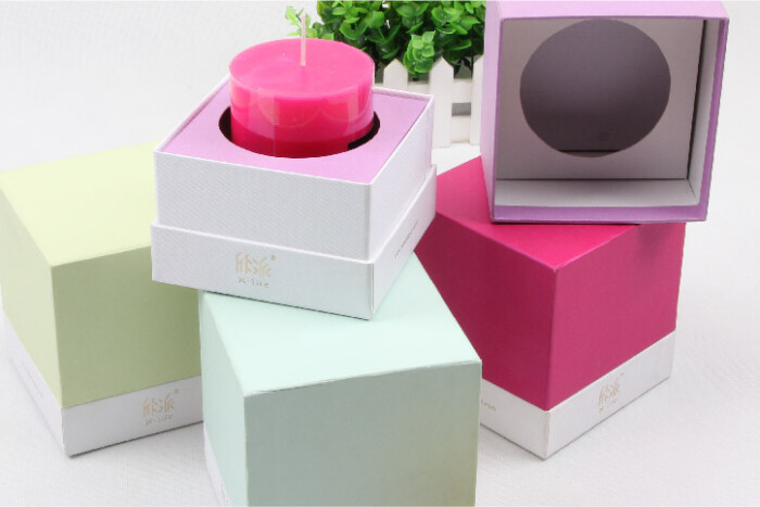 Colorful Candle Packaging Boxes With Lid Detail