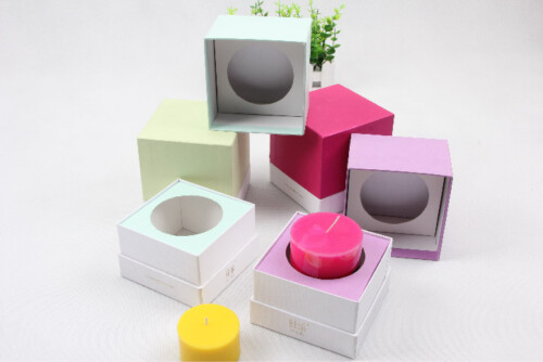 Colorful Candle Packaging Boxes With Lid Open