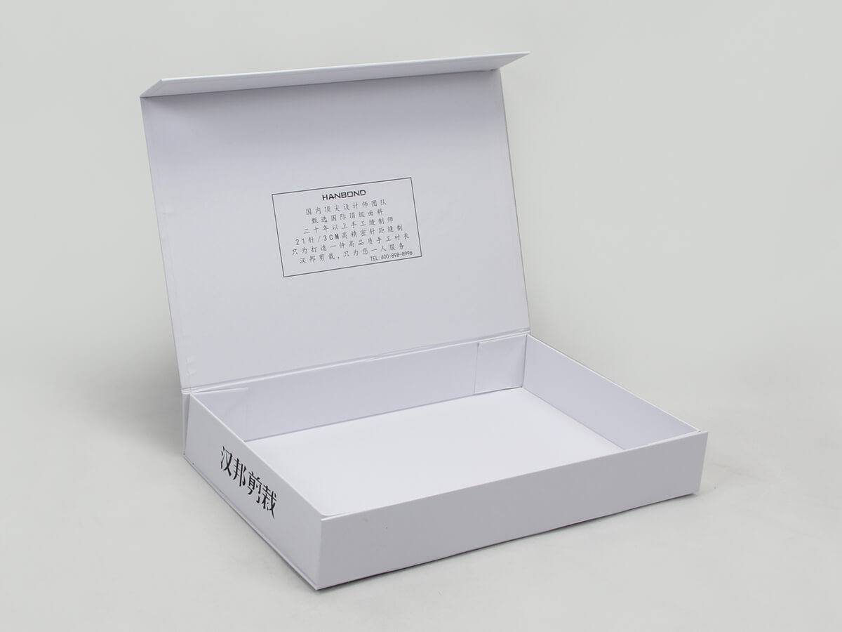 Concise White Shirt Packaging Boxes Clamshell Way
