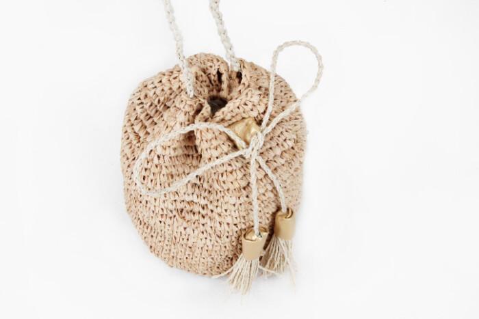 Custom Fashion Straw Bag Straw Pouches