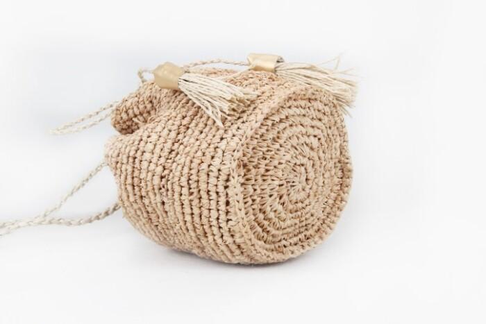 Custom Fashion Straw Bag Straw Pouches Base