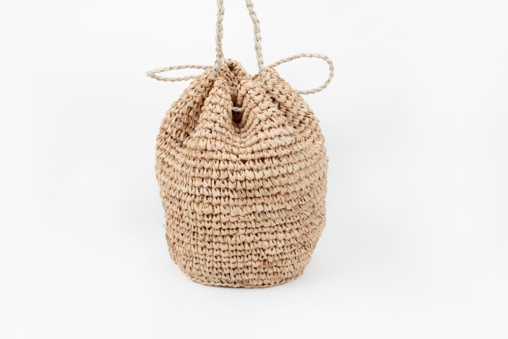 Custom Fashion Straw Bag Straw Pouches Material