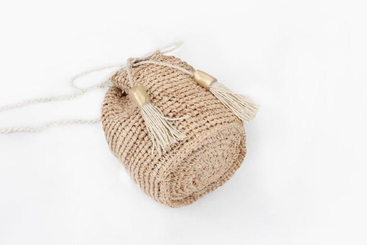 Custom Fashion Straw Bag Straw Pouches Side
