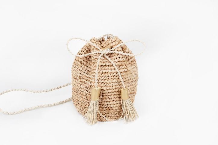 Custom Fashion Straw Bag Straw Pouches Style
