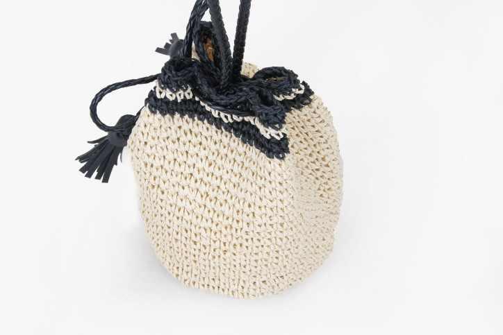 Custom Handmade Straw Pouches Bag back