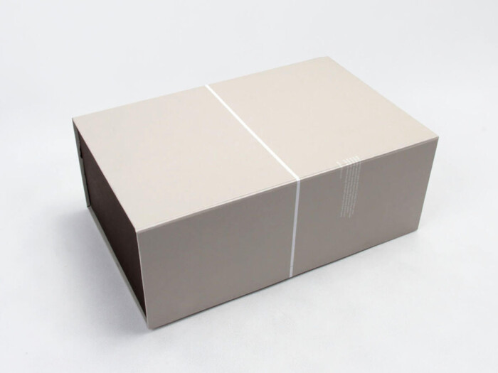 Deluxe Grey Folding Shoe Packaging Boxes
