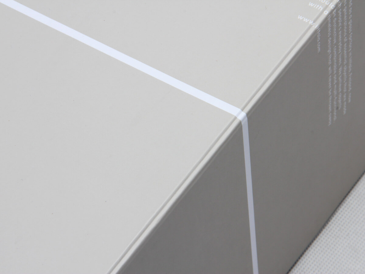 Deluxe Grey Folding Shoe Packaging Boxes Detail