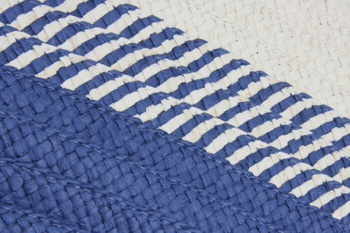 ECO-friendly Straw Stalk Woven Beach Bags Print