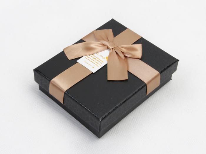 Elegant Black Rigid Chocolate Packaging Boxes Side Display