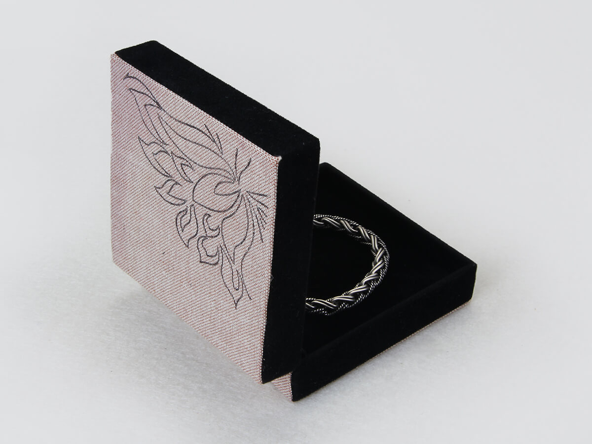 Floral Pattern Bracelet Boxes