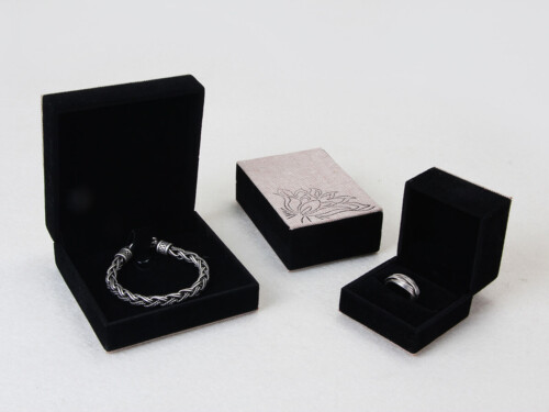 Floral Pattern Jewelry Boxes Set
